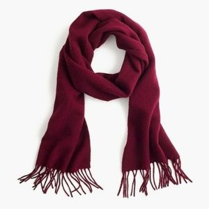J Crew New with Tags Cashmere Bergundy Scarf.